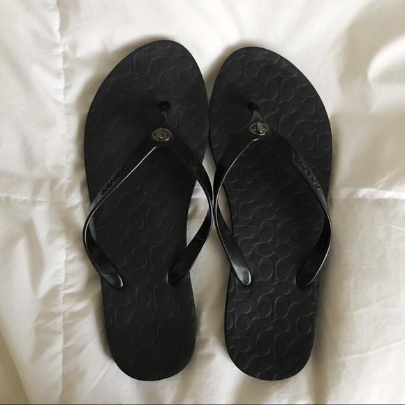 Coach Shoes - LAST CHANCE COACH Flip Flops 🖤